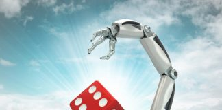 robot dealer in casino