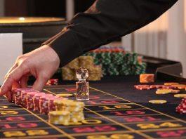 professional gambler playing in casino