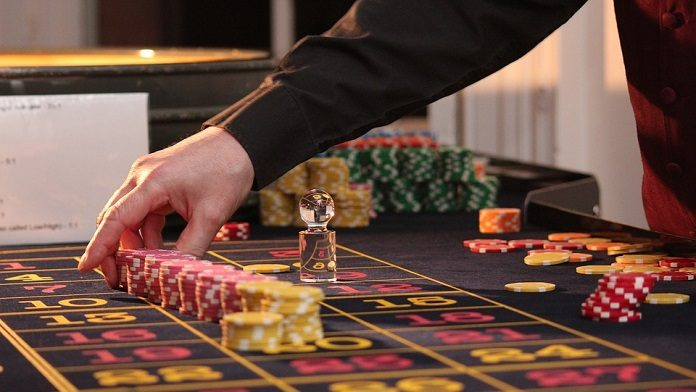 professional gambler playing in casino