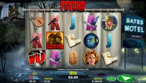 psycho movie themed slot machine