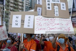 mgm china workers strike