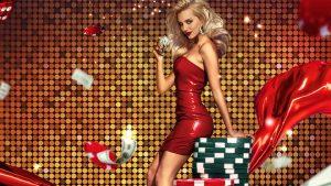 pretty girl in casino