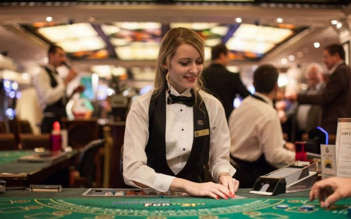working in a casino