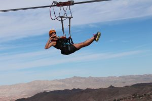 zip-line Bootleg Canyon