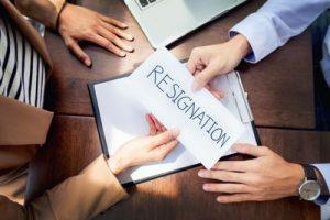 resignation