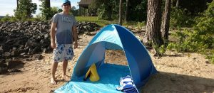 Automatic Pop Up Instant Portable Outdoors Quick Cabana Sun Shelter