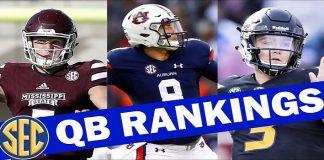 Power Ranks of SEC Quarterbacks For Gamers