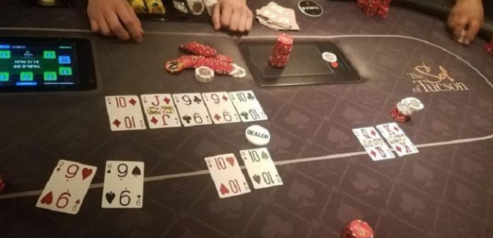 Straight Flush Over Quads Wins Big Hand in Tucson