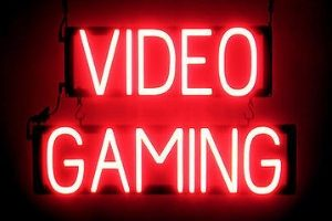 neon video gaming