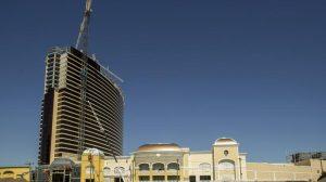 The construction of Encore Boston Harbor resort