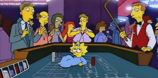 Maggie Simpson craps table