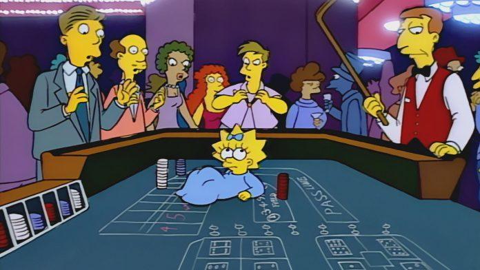 Maggie Simpson craps table